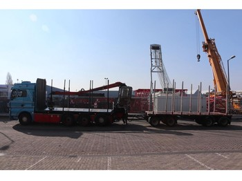 نقل الأخشاب MAN TGX35.540 8x4-4 BL TIMBER TRANSPORT IN COMBI WITH NOPA 4AXLE TRAILER