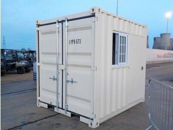 Unused 2020 9' Container, 1 Door, 1 Window - حاوية البناء